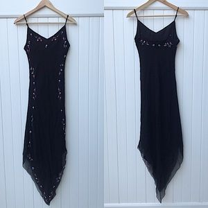 Betsey Johnson embroidered slip dress